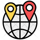 Global Location Global Pointer Worldwide Location Icon