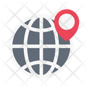 Global Location Map Icon