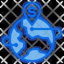 Pin Location World Icon