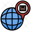 Location Maps And Location Earth Grid Icon