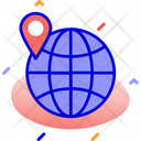 Globe Location Map Icon