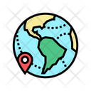Earth Location Point Icon