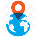 Geolocation Globe Tag Icon