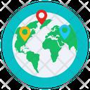 Global Location Worldwide Location Geolocation Icon