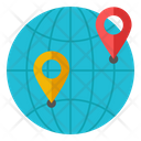 Globalization Global Location Worldwide Location Icon