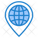 Global Location Placehloder Earth Icon