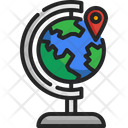 Global World Map Location Icon