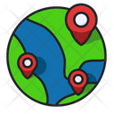 Global Location World Map World Icon