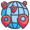 Global Location Earth Grid Placeholder Icon