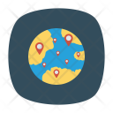 Global Location Online Icon