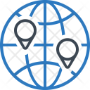 Global Business Location Icon