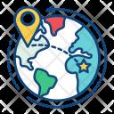 Worldwide Global Location Icon