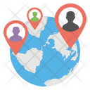 Global Locationing Icon
