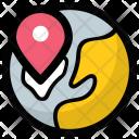 Global locator Icon