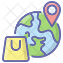 Global Logistics Global Location Global Delivery Icon