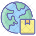 Global Logistics Global Parcel Global Package Icon