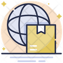 Global Logistics Box Parcel Icon
