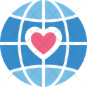 Globe Heart Love Travel Icon