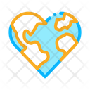 Earth Heart Equality Icon