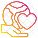 Hand Heart Earth Icon