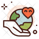 Global Love Earth Love Environment Care Icon