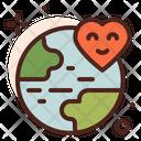 Global Love Global Care Love Icon
