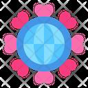 Global Love Globe Heart Icon