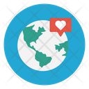 Global Earth Love Icon