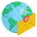 Global Mail Email Global Letter Icon