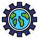 Global Management Global Configuration Global Solutions Icon