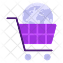 Global Market Online Shopping Online Buying Icon