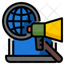 Global Campaign Seo Icon