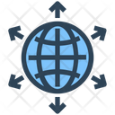 Seo Web Global Business Icon