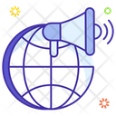 Global Marketing Foreign Marketing Overseas Promotion Icon