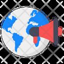 Global Marketing Global Promotion Worldwide Marketing Icon