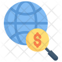 Internet Marketing Global Research Budget Icon