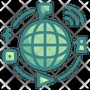 Global Marketing Worldwide Connection Icon