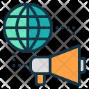 Global Marketing Word Icon