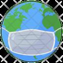 Global Mask World Coronavirus Protection World Coronavirus Safety Icon