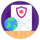 Medical Report Global Medical Security Global Healthcare Icon
