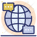 Global Discussion Worldwide Discussion Business Discussion Icon