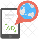 Global Mobile Advertising Icon