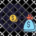 International Business Global Money International Savings Icon