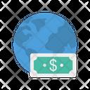 Dollar Money World Icon