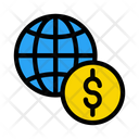 Global Banking Dollar Icon