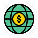 Global World Dollar Icon