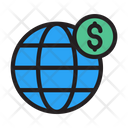 Global Money Global Dollar Icon