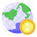 Global Money Foreign Money Worldwide Money Icon
