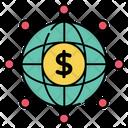 Global Money Global Economy Global Cash Icon
