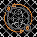 Global Money Flow Icon
